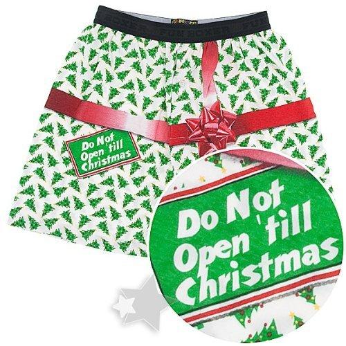 fun boxers dont open till christmas boxer shorts for men clothing