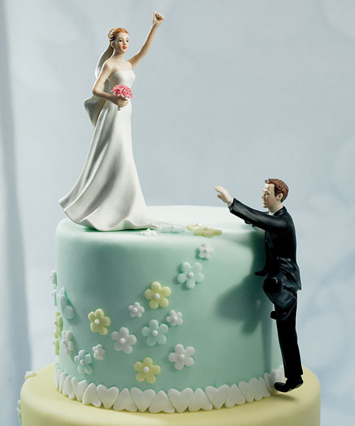 Funny wedding cake toppers weirdomatic climbing groom junglespirit Images