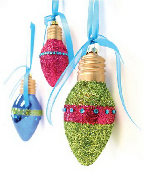 Recycled Light Bulb Christmas Decorations Weirdomatic