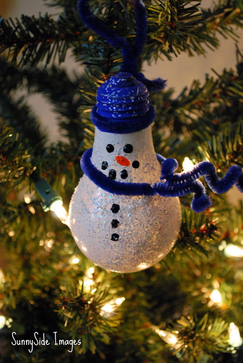 painted light bulb ornament - Christmas Bulb Decorations