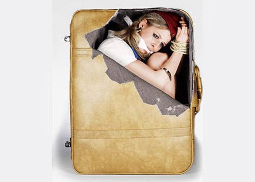 забавная наклейка на багаж