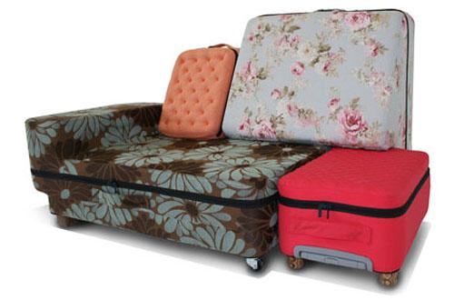чемодан-трансформер софа